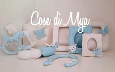 "Cose di Mya: Coordinato in ceramica ""Linea Azzurra"""