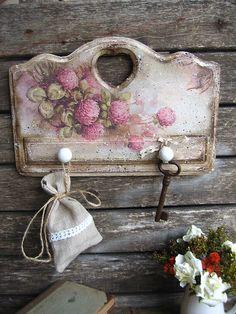 """""""Клевер пахнет медом пряным..."""" - вешалка,винтаж,клевер,розовый,кантри"""