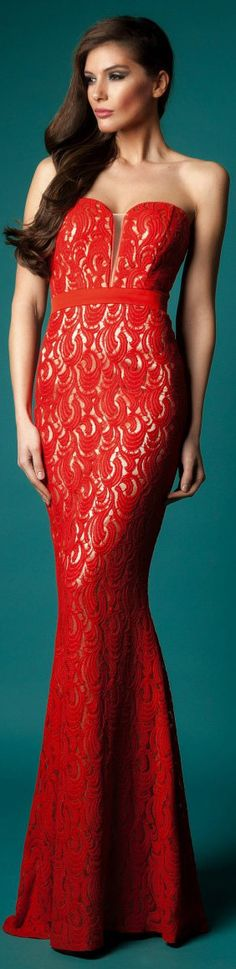 Rochie de Ocazie Cristallini Limited Edition #strapless #long #formal #red #sexy #elegant #dress
