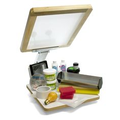 Ryonet Screen Printing Starter Kit, Ryonet's Screen Printing Starter Kit gives you everything you'll need to start screen printing t-shirts and much more in one affordable package. This kit includes the Silver Starter Press with a & Crafts, Printing Kits Diy Screen Printing Kit, Screen Printer, Silk Screen T Shirts, Printmaking Supplies, Hobby Kits, Diy Shops, T Shirt Diy, Tee Shirt, Sewing Stores