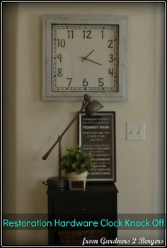 "Restoration Hardware & Ballard Designs ""Quad"" Clock Knock Off (tutorial)"