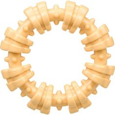 """Nylabone+Dura+Chew+Plus+Textured+Ring+Dog+Chew+-+6"""";+Diameter,+Made+of+softer+rubber+to+encourage+the+development+of+non-destructive+play+and+chewing+habits.+Reduces+tartar,+promotes+fresh+breath+and+helps+clean+teeth!+This+multi+texture+ring+is+chicken+flavor+and+perfect+for+powerful+chewers. - http://www.petco.com/shop/en/petcostore/product/nylabone-dura-chew-plus-textured-ring-dog-chew"""