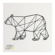 New tattoo geometric bear geometry ideas Geometric Bear Tattoo, Geometric Drawing, Geometric Art, Geometric Animal, Triangle Drawing, Tape Art, Stylo 3d, Bear Felt, Ideias Diy