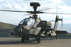 A British Army 'Apache' Attack Helicopter Attack Helicopter, Military Helicopter, Military Jets, Military Aircraft, Ah 64 Apache, Military Photos, Military History, Drones, Longbow