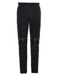 BALENCIAGA Zip-detail cotton biker trousers
