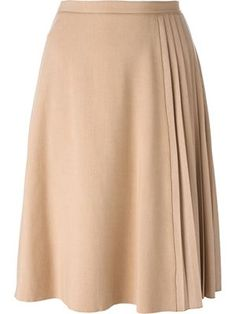 This slight A line skirt with pleating detail would be great for a cello as it would skim over her bum and hips