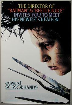 Edward Scissorhands 1990 Original Movie Poster Unused Johnny Depp | eBay