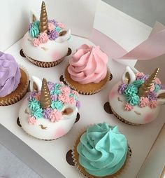 Unicorn Cupcakes- just when i thought they couldn't get any cuter someone made them tiny!