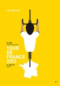 My TOUR DE FRANCE Minimal Poster Art Print by Chungkong | Society6