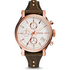 ES3616 - Original Boyfriend Chronograph Leather Watch - Raisin(FOSSIL [フォッシル] の時計)|iQON