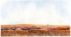 Flint Hills Landscape Watercolor Sketch, Watercolor Landscape, Flint Hills, Painting Inspiration, How To Look Pretty, Workshop Ideas, Trees, Art, Art Background