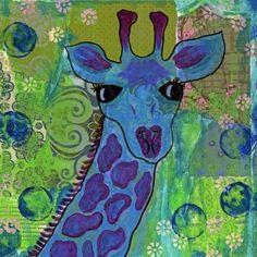 Oopsy Daisy - Bright Eyes Canvas Wall Art 18x18, Jill Lambert