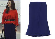 "Choi Ji-Woo 최지우 in ""Temptation"" Episode 6.  Marni Double Faced Wool-Crepe Midi Skirt #Kdrama #Temptation 유혹 #ChoiJiWoo"