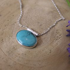 There's only one of these beautiful Turquoise pendants. The simple design allows the colour to pop. Once it's gone, it's gone!