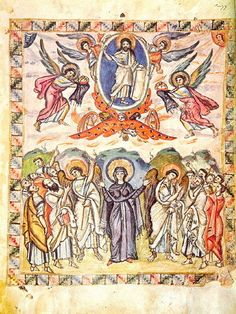 Explains the iconography of medieval & early modern pictures of the Ascension of Christ. Early Christian, Christian Art, Anglo Saxon Kingdoms, History Of Illustration, Greek Icons, Life Of Jesus Christ, Painting Prints, Art Prints, Carolingian