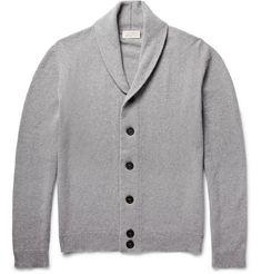 Patterson Shawl-Collar Merino Wool and Cashmere-Blend Cardigan   MR PORTER