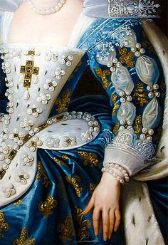 Anne of Austria, Queen of France, Mother of King Louis XIV (1622-1625) Peter Paul Rubens...dress detail