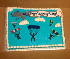 Skydiver birthday cake 40th Birthday, Birthday Ideas, Cake Decorating, Decorating Ideas, Icing Tips, Skydiving, How To Make Cake, Cake Designs, Picture Ideas