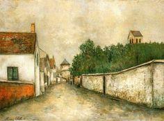 Ciudad de la pintura -UTRILLO, Maurice French (1883-1955)_Marizy-Sainte-Genevieve 1910