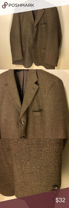 Pronto Uomo Men's Wool Sport Coat Suit Jacket 46 R 100% Wool.  Lovely neutral light brown color. Very high quality.   Approximately:   Arm length 17 1/2. Size 46 Regular.    Thank you SO much for visiting my Posh Closet!  No matter whether you are looking for dainty minimal designs, leather, elegant, Lacey, Boho, peasant, sportswear, career or shoes ( boots, heels, tennis shoes ). It all will be here in my closet so please check out what else is here.  Offers & bundles ALWAYS welcome!  E1…