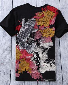 e5fb6edf 60 Best koi fish t shirt for men images   Fishing t shirts, Koi ...