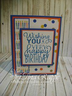 Stampin' Up! Big on Birthdays stamp set, Stampin' Studio