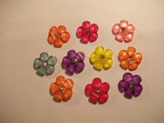 Acrylic Iridescent Flower Assorted Colors by TheEiffelTeaRoom, $3.25