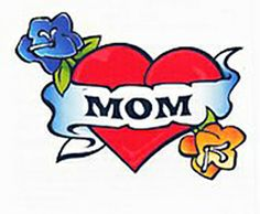 Mom Heart with Flowers
