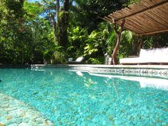 Main swimming pool at UXUA Casa Hotel & Spa, Trancoso, Bahia. #Aventurine #Quartz #Pool