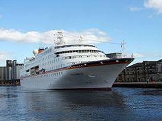 MS Hamburg  luxury cruise ship In Reykjavik Harbour, Iceland, 30.6. 2014. Tonnage: 15,067 Capacity: 420 passengers. Crew 170. 30.6. 2014. NCO eCommerce, www.netkaup.is
