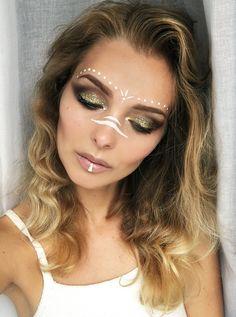 Augen Make Up Indianer - Make-Up und Tattoo - New Ideas Festival Make Up, Festival Looks, Festival Paint, Festival Makeup Glitter, Glitter Makeup, Music Festival Makeup, Glitter Face, Glitter Paint, Rave Face Paint