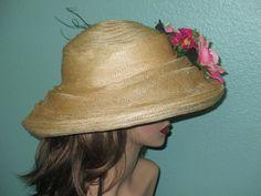 Romantic Sinamay Floral Hat for Weddings Garden by reneesvanity make one?