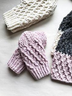Crochet Pattern Crochet Mitten Pattern The Stevie Mittens Crochet Mittens Free Pattern, Crochet Cable, Crochet Gloves, Knit Mittens, Crochet Hooks, Baby Mittens, Diy Crochet, Crochet Ideas, Lion Brand Wool Ease
