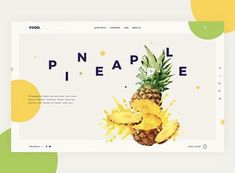 Food Web designed by Giga Tamarashvili. Connect with them on Dribbble; the global community for designers and creative professionals. Design Ui Ux, Food Web Design, Food Graphic Design, Page Design, Interface Design, Clean Design, User Interface, Website Design Inspiration, Best Website Design