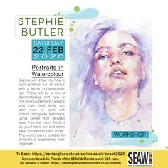One day watercolour workshop. Part of the Awash 2020 festival of watercolour. Watercolor Portraits, Watercolor And Ink, Painting Workshop, Learn To Paint, About Uk, Impressionist, How To Find Out, Encouragement, Feelings