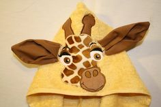 Custom Embroidered Giraffe Hooded Towel by Sweetthangs31 on Etsy, $22.00