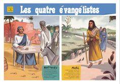 Les 4 évangélistes (Bd, fiche et visuels) - KT42 - portail pour le caté