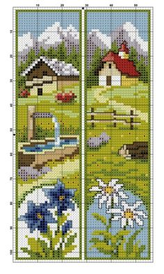 counted cross stitch kits for beginners Cross Stitch House, Cross Stitch Books, Cross Stitch Bookmarks, Crochet Bookmarks, Mini Cross Stitch, Cross Stitch Needles, Counted Cross Stitch Kits, Cross Stitch Flowers, Handmade Bookmarks