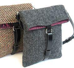 Harris Tweed, Diy Sac, Purse Patterns, Crochet Patterns, Denim Bag, Fabric Bags, Handmade Bags, Handmade Handbags, Beautiful Bags