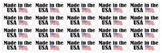 [20X] 2in x 0.75in Made in the USA Stickers Vinyl Product Label Decals