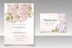 Premium Vector | Elegant floral template wedding card Wedding Invitation Card Template, Wedding Invitations, Wedding Cards, Templates, Elegant, Floral, Wedding Ecards, Classy, Stencils