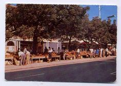 vendors selling wooden carvings in Mombasa