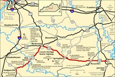 Lincoln Heritage Scenic Highway - Map | America's Byways