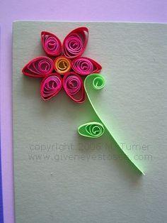 Idee Bricolage Enfant, Decoration Papier, Paperolles, Quilling Fleurs,  Feuilles, Modèles De