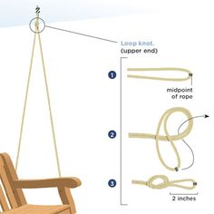 Porch swing: replace chain with rope. Might have to do this with the rusted chain out back... if not buying a new one.