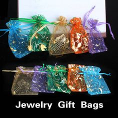50 pcs/lot Wedding Decoration Organza Jewelry Candy Bags Pendent Mixed Color Mini Gift Pouch Bags Wedding Party Decorations