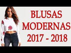 BLUSAS DE MODA Y TENDENCIA 2018!!! BLUSAS DE HOMBROS DESCUBIERTOS DE MODA 2017/2018!!! - YouTube