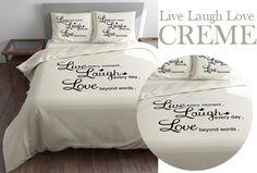 Live Laugh Love dekbedovertrekset incl. muursticker nu al vanaf €14,95