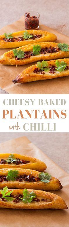 Cheesy Baked Plantains Recipe | Plantains From A Pantry