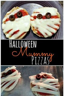 Worlds Best Recipes: Mummy Pizzas For Halloween. How about Mummy Pizzas. You can have them for dinner tonight or this weekend and I bet the kids would love them. Add little bits of pimentos for eye balls.